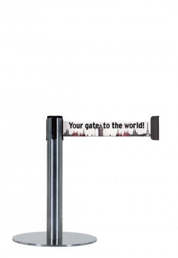 Beltrac Imprint Expo - Låg avspärrningsstolpe med eget tryck (2,3m)