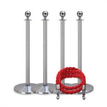 Köpaket -Silver- 4 stolpar / 2 rep