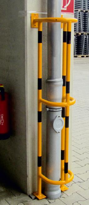 Rörskydd - Solid - för vägg- eller golvmontering