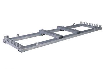 Transportställ för byggstängsel