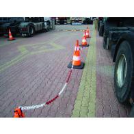 Mjuk varningskon med reflex -Robust- i PVC (50-90cm)