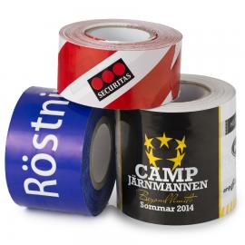 Avspärrningsband Premium XL (150mm bredd) med tryck (1-3 färger)