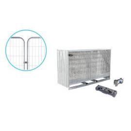 Byggstängsel Premium med runda hörn - Komplett paket (105m)