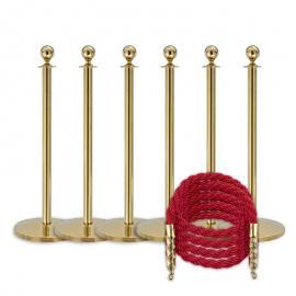Köpaket -Mässing- 6 stolpar / 4 rep