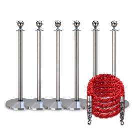 Köpaket -Silver- 6 stolpar / 4 rep