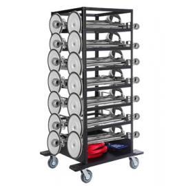 Avspärrningspaket -Expo- 21st stolpar (Silver), rep & transportvagn