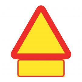 Varningsmärke i plast med tilläggstavla