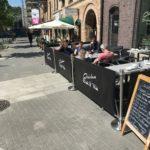 Avgränsare med tryck till uteservering i Göteborg